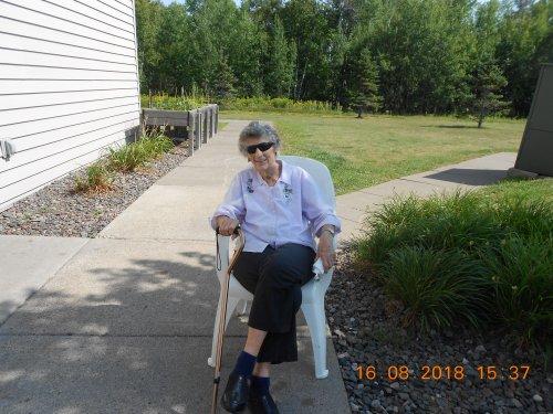 Jean enjoying the weather!