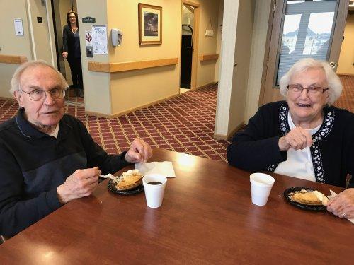 John and Jean enjoying pie on PI day!