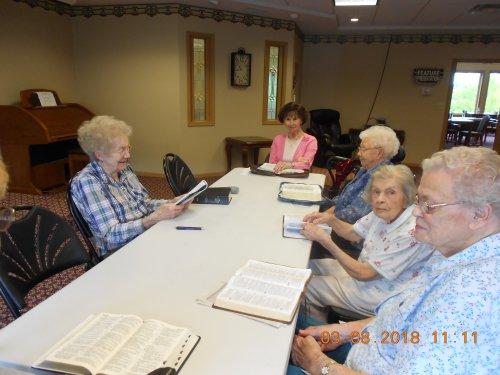 The Ladies enjoying Friday Bible Study!