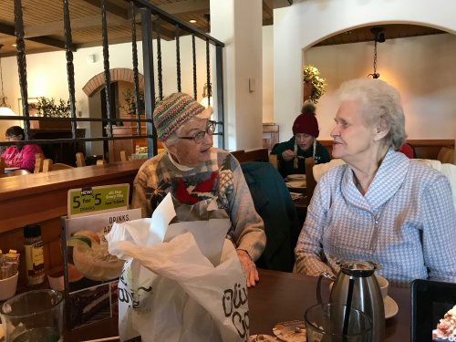 Great conversation at lunch today with these two wonderful women Petey and Judy!