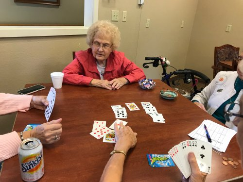 Rose and friends playing Bridge.