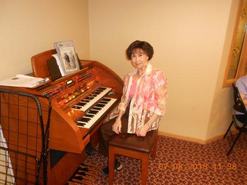 Grace taking Organ Lessons here at Primrose.