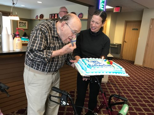 HAPPY 90th BIRTHDAY RICHARD!! From your family and friends at Primrose!!