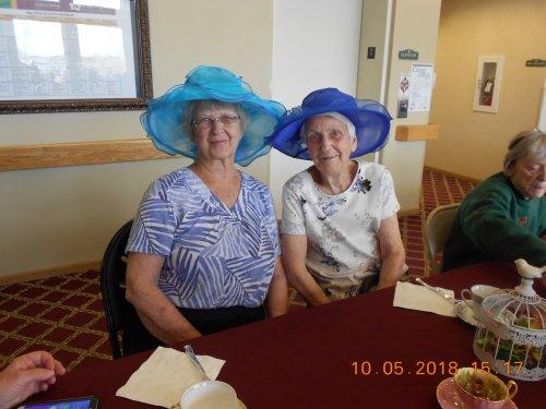 Bev and Mabel enjoying the Ladies Tea Party!