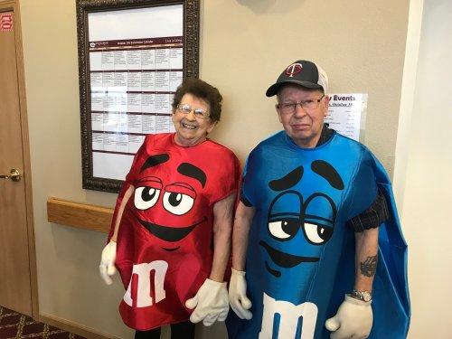 Jan and Bob enjoying the Halloween party.