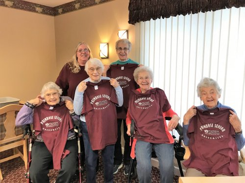 Thank you for the Primrose Senior University T-shirts! We love to learn!!