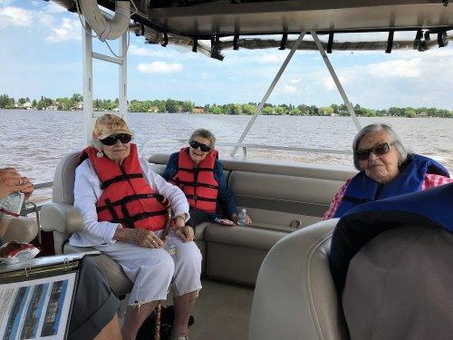Ladies enjoying the boat ride!