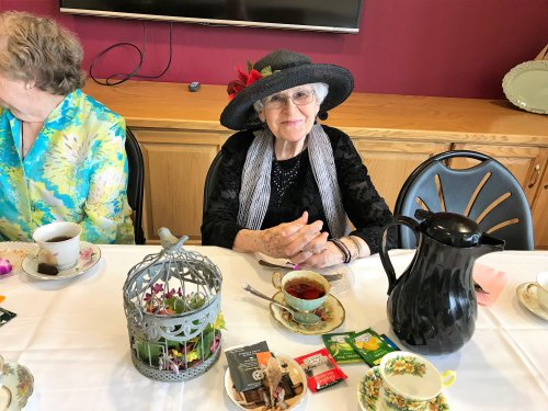 Pasty enjoying the Ladies Tea Party