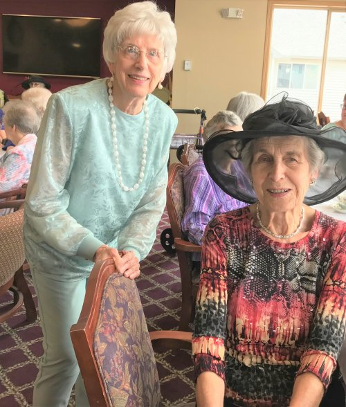 Ginny and Mary at the Ladies Tea Party!