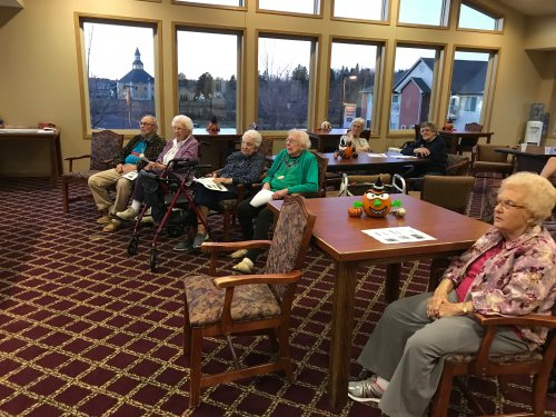 Residents learning about Fall Prevention during National Physical Therapy Week