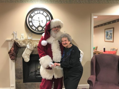 Never to old to have your picture taken with Santa!!