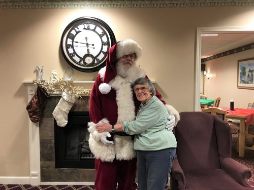 Never to old for a picture with Santa!