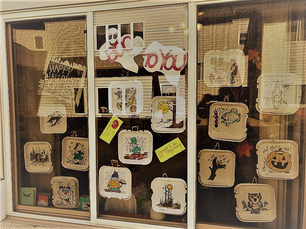 Ray's Halloween Display! He is quite the artist!