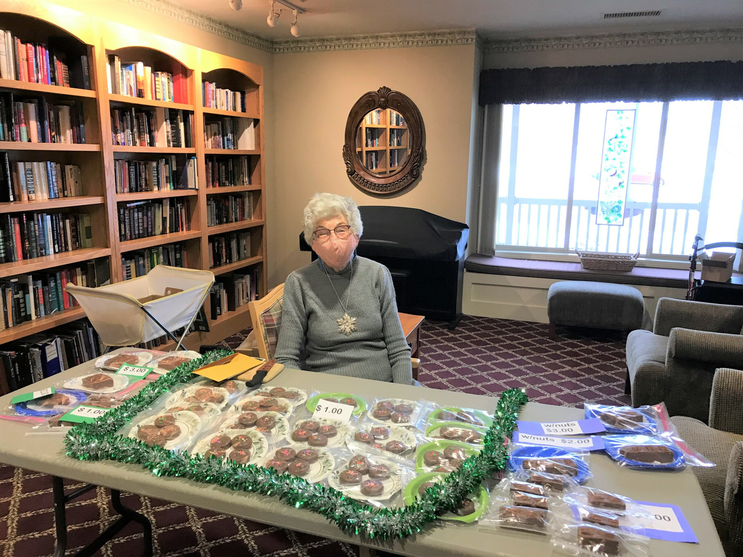Residents having a Craft Fair for Residents and Staff !