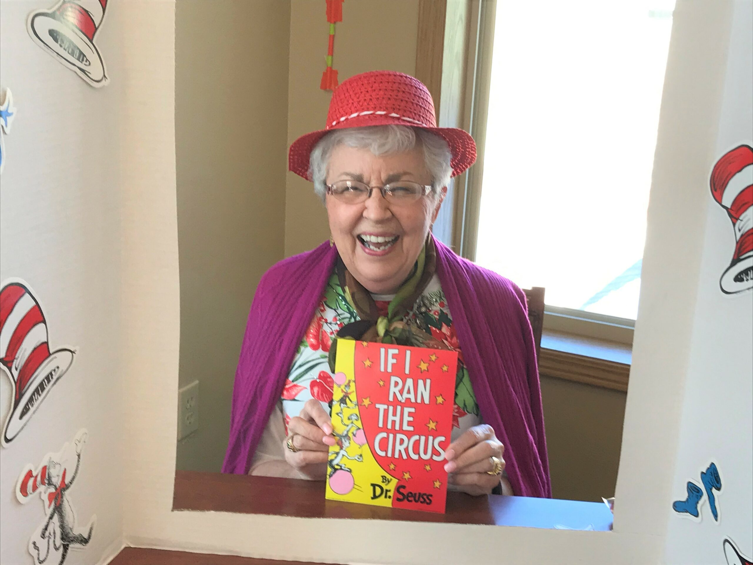 Happy Birthday Dr. Seuss! Judy enjoying the party!