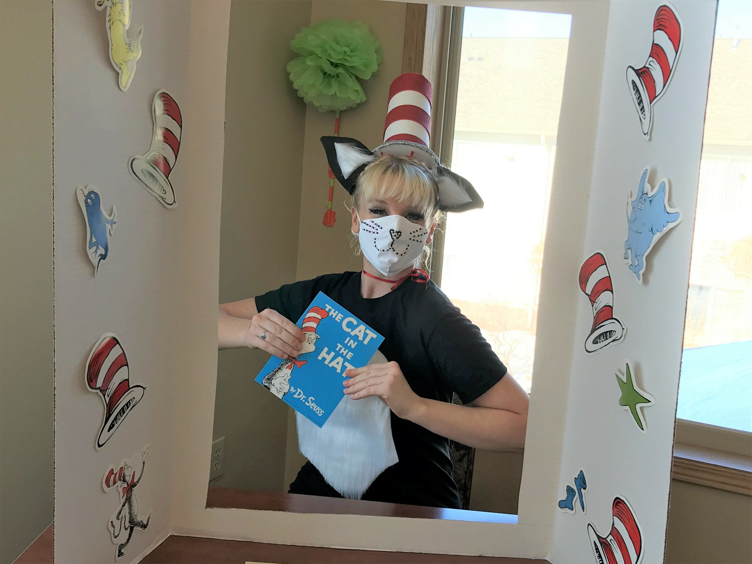 Jen from the kitchen getting into the spirt of the party!