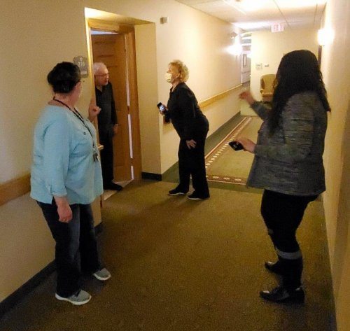 Ron gets into the hallway sing-a-long!