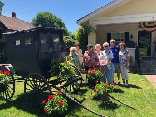 Wyandot County Home and Garden Tour 2018. The residents toured 6 beautiful homes and gardens. we enjoyed all the refreshments and the historical homes of Wyandot County