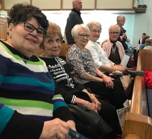 Jeanette, Virginia, Miriam, Rose and Nancy are waiting to be amazed by the joyful music of 80 Fingers of Praise. Our residents were just a few of the 600 people who attended this amazing concert at St. Andrews here in Findlay