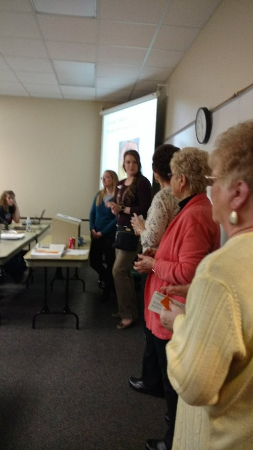 Findlay residents surprise a class of nursing students at Owens Community College with Amazon gift cards on Random Acts of Kindness Day (2/15/18).