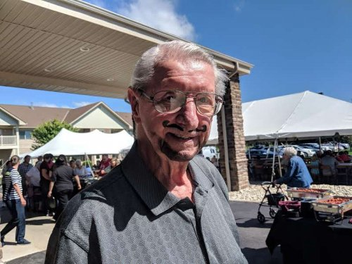 Don L. took advantage of the face-painting at our family picnic on Sep. 15th!