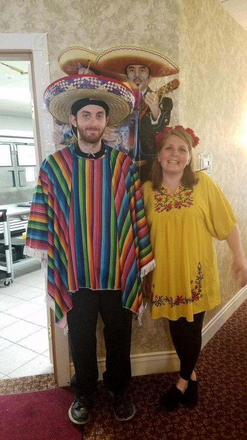 Ben & Jen prepare to serve this months Theme Dinner, 'Trip to Mexico'.