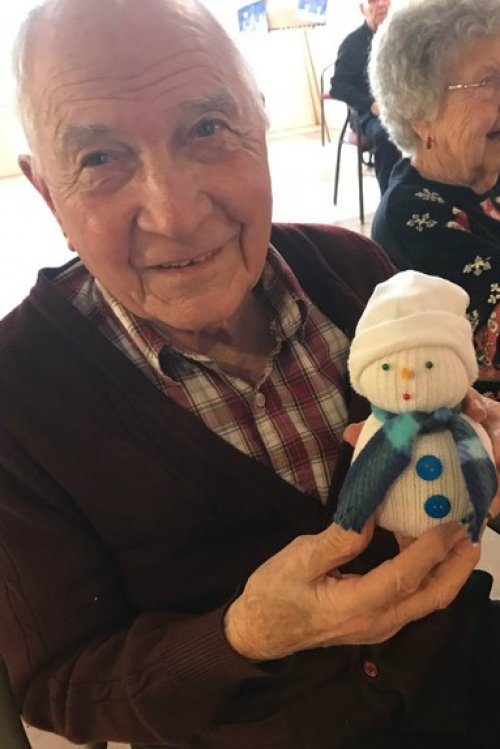 Dave is looking forward to showing his great grandchildren his latest craft!