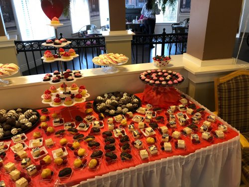 Residents enjoyed a special Valentine's day desert buffet.