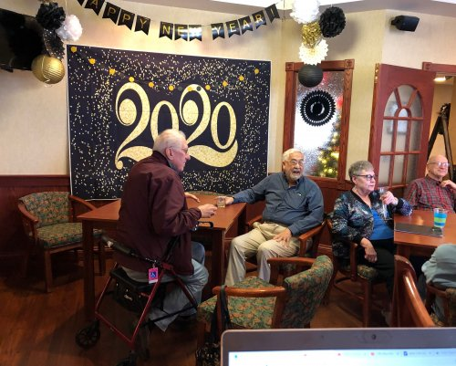 Residents bring in the year 2020