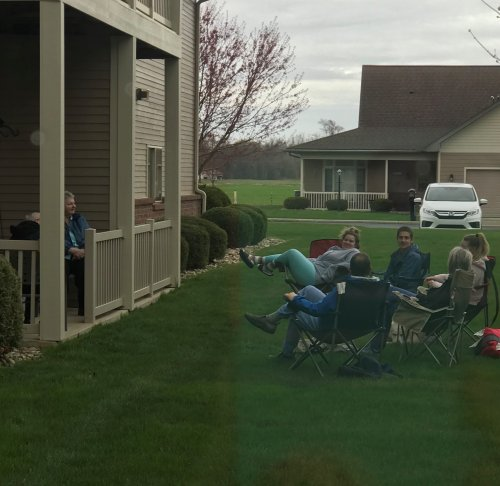 An Easter visit with family while social distancing.