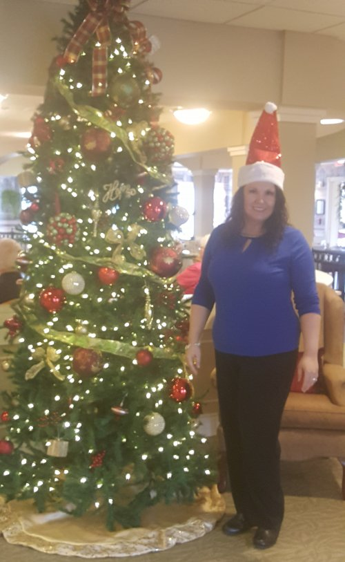 Our Executive Director ready for Christmas.