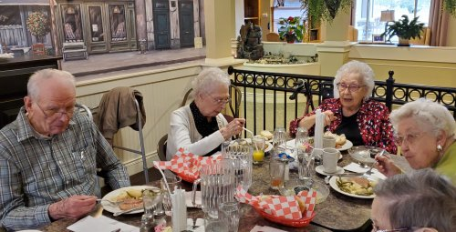 Rose invited special guests to join her for lunch on her birthday.