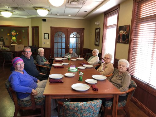 We all enjoyed an evening of friendship and fun as we gathered to celebrate our March Birthdays!  The Olive Garden diner was wonderful.