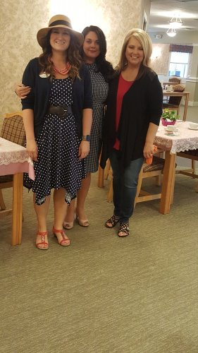 Staff enjoy all the Mothers and Daughters during the Mother's Day tea.