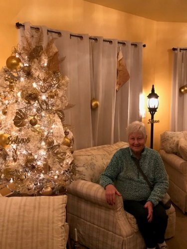 Christmas 2019 is celebrated in the home of Edna's daughter.  The decorations and fellowship were enjoyed by all.