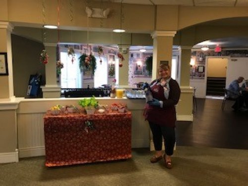 Residents enjoyed the Bloody Mary bar during our Christmas luncheon