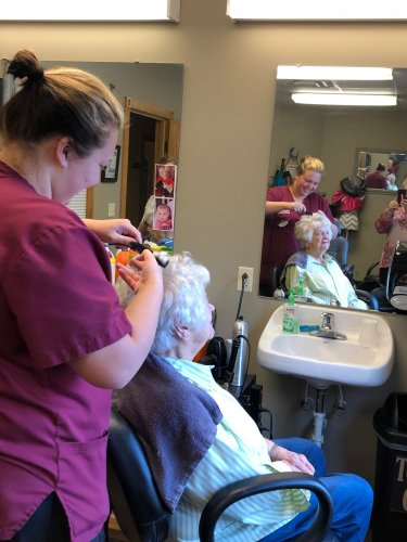 Everyone is pitching in to get hair done during this isolation period!