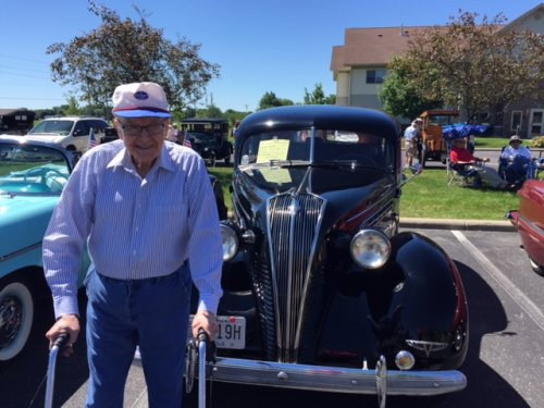 Bill Freemyer is enjoying the beautiful weather during our annual Father's Day car show.