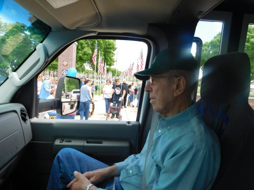 Harold and many others enjoyed a Memorial Day riding tour to see all the flags, the traveling Viet Nam Memorial and cemeteries.