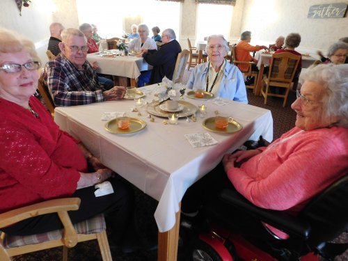 Primrose Residents share in a special 'Cup of Christmas Tea' event.  This is Living!