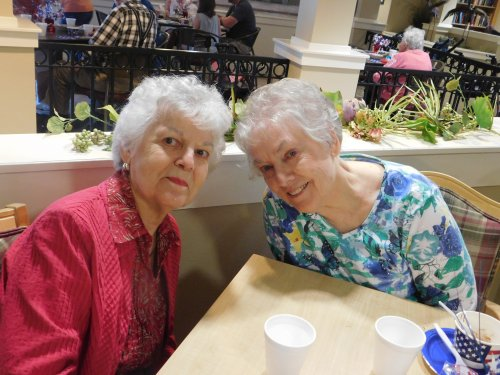 What fun that sisters Joy and Shirley are reunited by both now calling Primrose 'home'!  This Is Living!