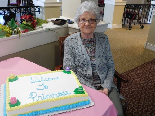 It's always fun to welcome new Residents to our Primrose Family.  We're glad you're here, Jean!