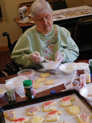 Christmas cookie decorating time in Grand Island.  This Is Living. . .and serving the community at the same time!