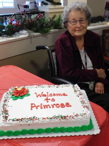 What fun to welcome new Residents to our Primrose Family!  Welcome, Dorothy!