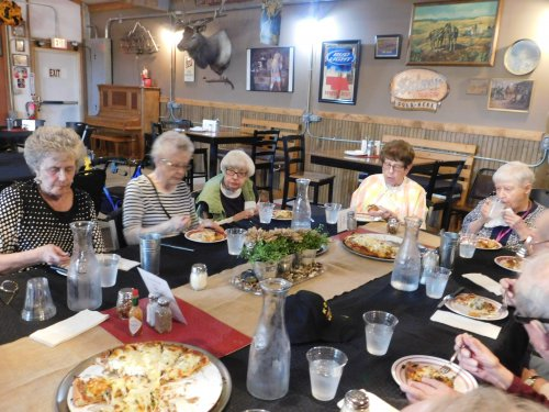 What fun to enjoy Supper Social together and yummy pizza!