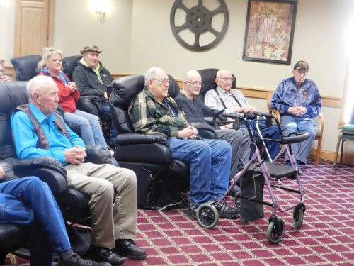 Our 'Heroes'/Veterans at our recent Veterans' Gathering.