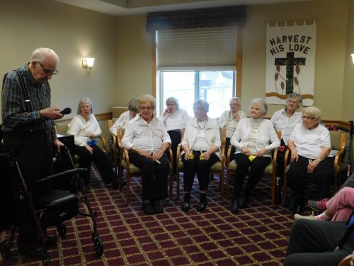 Our Primrose Bell Choir and Resident, Roland, have a part in the 2020 Primrose Talent Show.