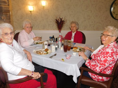 Valentine's Day dinner is always more fun shared with friends!  Our Primrose Family/Friends are the best!