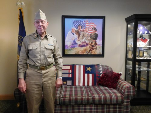 Not everyone can wear their military uniform from 70 years ago but, Harold can. How special for Veterans Day!