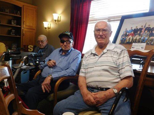 Some of our Primrose Heroes at our monthly Veterans' gathering.